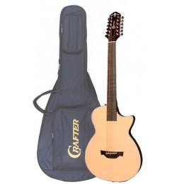 Crafter CT-120-12/EQN 12-ти струнная электроакустическая гитара + Чехол
